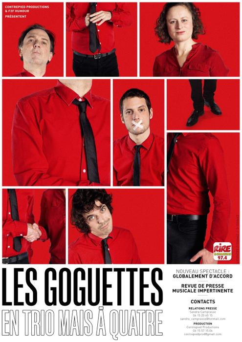 """Les Goguettes - Dossier de presse """"Globalement d'accord"""""""